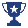 trophy icon for coed adult flag football league austin tx