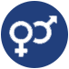 gender symbols icon for adult co-ed austin kickball leagues